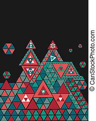 Abstract geometric figures.