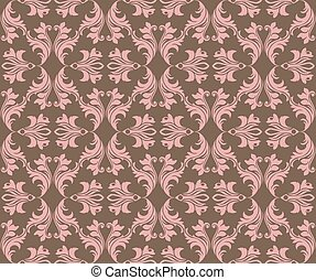 Abstract geometric floral classic pattern