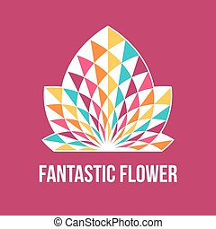 Abstract geometric flower.