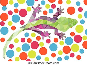 Abstract Geometric Gecko