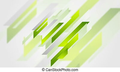Abstract geometric green tech video animation