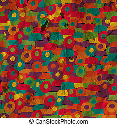 Abstract geometric grunge background on the paper texture