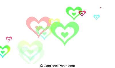 Abstract Geometric Hearts Loop HD