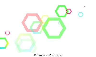 Abstract Geometric Hexagons Loop HD