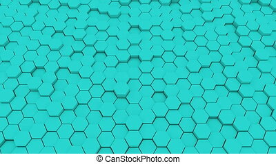Abstract geometric hexagons, optical Illusion, computer...