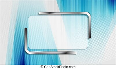 Abstract geometric hi-tech motion background with metallic ...