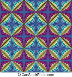 abstract geometric illusion seamless pattern.