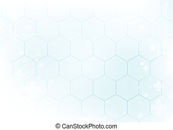 Abstract geometric in soft blue background