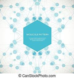 Abstract geometric lattice, molecules on same chain....