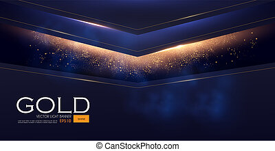 Abstract Geometric Line Background with Gold Glitter Effect....