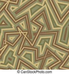 Abstract Geometric Military camouflage background. Protective seamless pattern. Army soldier texture for clothes. Khaki ornament.
