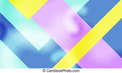 Abstract geometric minimal pastel video animation - Abstract...