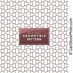 Abstract geometric minimal pattern with. Seamless vector geometric wallpaper ornament