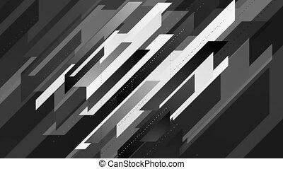 Abstract geometric minimal tech video animation - Abstract...