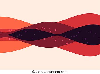Abstract geometric modern curve, retro style background