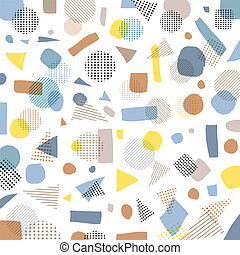 Abstract geometric modern pastels color, black dots pattern with lines diagonally on white background.