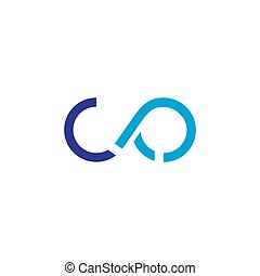 abstract geometric motion blue waves logo vector