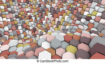 Abstract geometric multicolored background.3d render
