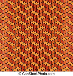 Abstract Geometric Orange Seamless Background. Vector