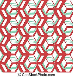 Abstract geometric pattern. A seamless background. Retro texture.