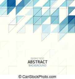 Abstract geometric pattern blue color illustration isolated on white background with copy space, vector eps 10