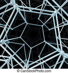 Abstract geometric pattern. Network connection