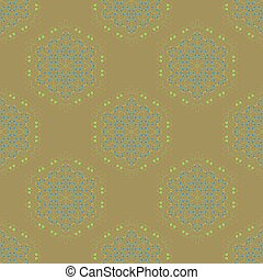 Symmetric Seamless Brown Background