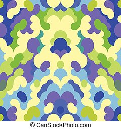Abstract geometric pattern with fractured circles. Seamless vector background.