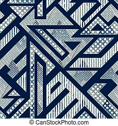 Abstract geometric pattern with grunge effect