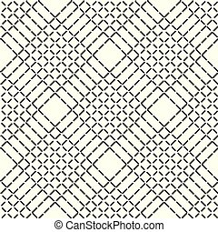Abstract geometric pattern with lines, rhombuses a seamless vector background. Black and white texture