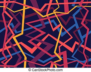 Abstract geometric pattern with Random chaotic lines