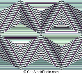 Abstract geometric pattern with striped triangles
