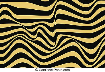 Abstract geometric pattern with wavy lines. Seamless vector background.