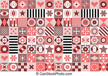 Abstract Geometric Patterns Background