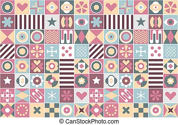 Abstract Geometric Patterns Seamless Background