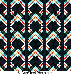 abstract geometric psychedelic seamless pattern on a black background