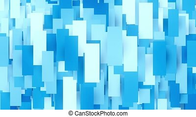 Abstract geometric rectangle shapes in blue