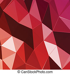 Abstract geometric red triangle background. Vector