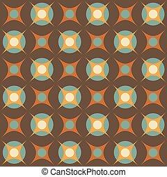 Abstract geometric retro pattern