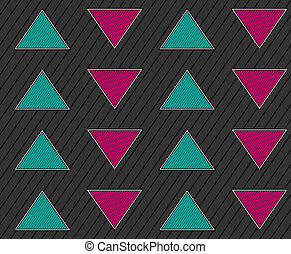 Abstract geometric seamless background with arrows