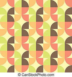 Abstract Geometric seamless pattern - Abstract Retro...