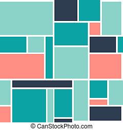 Abstract Geometric Seamless Pattern Block Background. Illustration