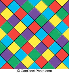 Abstract geometric seamless pattern. Colored squares.