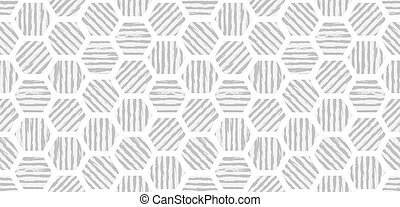 Abstract geometric seamless pattern hexagonal background with grunge stripes