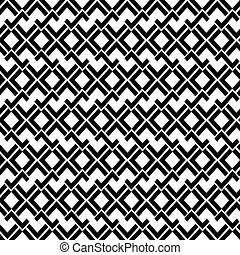 Abstract geometric seamless pattern in black and white
