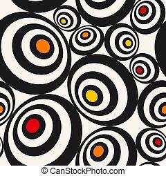 seamless pattern in op art style