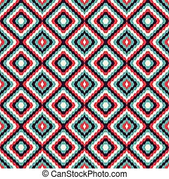 abstract geometric seamless pattern in retro style