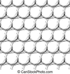 Abstract geometric seamless pattern with dots.