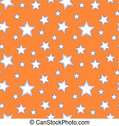 Abstract geometric seamless pattern with stars. Vector illustration. Colorful pastel background. Wallpaper for kids room or interior design