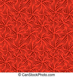 Abstract Geometric Seamless Red Vector Pattern